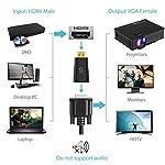 Syncwire-Adattatore-da-HDMI-a-VGA-1080P-60Hz-Convertitore-HDMI-maschio-a-VGA-femmina-per-computer-desktop-laptop-PC-monitor-proiettore-HDTV-Chromebook-Raspberry-Pi-Roku-Xbox-e-altri