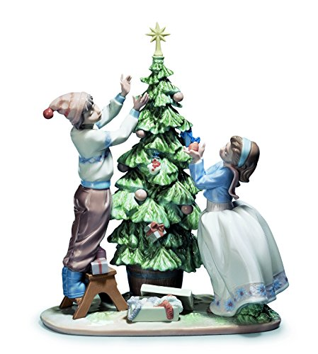 Lladro Trimming The Tree by Lladro