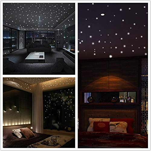 iYBWZH Wall Stickers 407Pcs Round Dot Luminous for Kids Room Home Decor