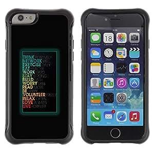Suave TPU GEL Carcasa Funda Silicona Blando Estuche Caso de protección (para) Apple Iphone 6 / CECELL Phone case / / Funny Motivational Message /