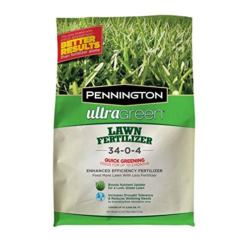Pennington Ultragreen Lawn Fertilizer 34-0-4 5M, 12 lb