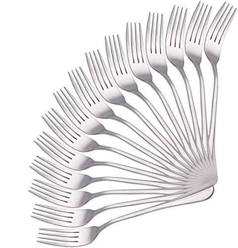 Woaiwo-q 15 Pieces Dinner Forks,Stainless Steel Forks,Silverware Dinning Forks Set,8 Inches