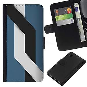 // PHONE CASE GIFT // Moda Estuche Funda de Cuero Billetera Tarjeta de crédito dinero bolsa Cubierta de proteccion Caso Sony Xperia Z1 L39 / Lines /