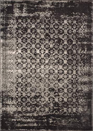 Well Woven Sydney Vintage Manchester Grey Modern Mosaic Distressed Area Rug 9'3″ x 12'6″ - the best living room rug for the money