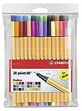Stabilo Pens Item 8830-1 Point 88-Fine Point-30 Color Wallet of Coloring Pens/Fineline Markers-Includes 30 Unique Colors (3-Pack)
