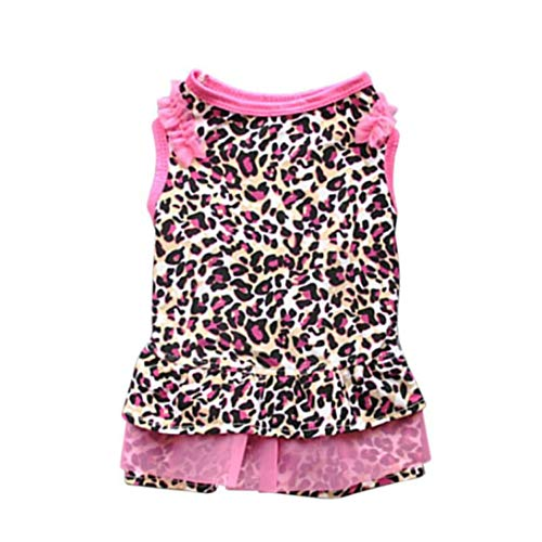 Jim-Hugh Cute Letter Printed Small Dogs Tops Dog Cat Puppy Clothes T Shirt Dress Pet Costumes]()