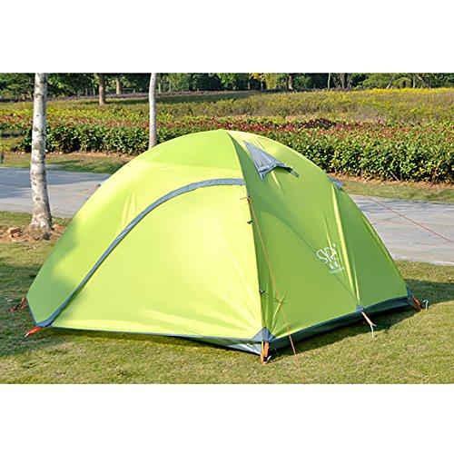 TY&WJ Familie Campingzelt,Outdoor Aluminiumstange Zelte Double Layer Reise Wandern Klettern Regendichte 3-4 Personen