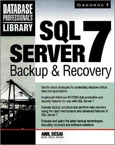 Gratis downloads til lydbøger til mp3-afspillere SQL Server 7 Backup & Recovery PDF