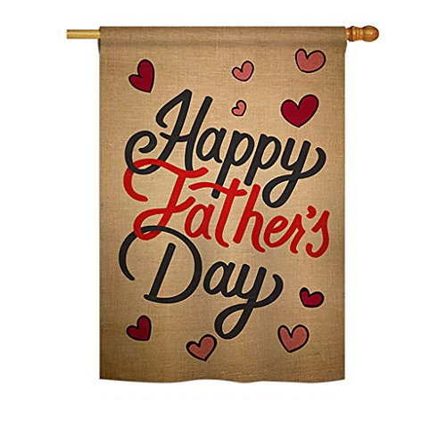 (Ornament Collection Happy Father's Day Vertical House Large Outdoor Decoration Flag 28