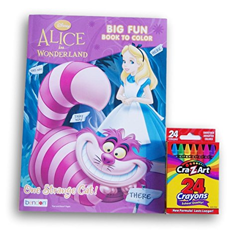 Alice in Wonderland One Strange Cat Jumbo Coloring and Activity Book with (Strange Cat)