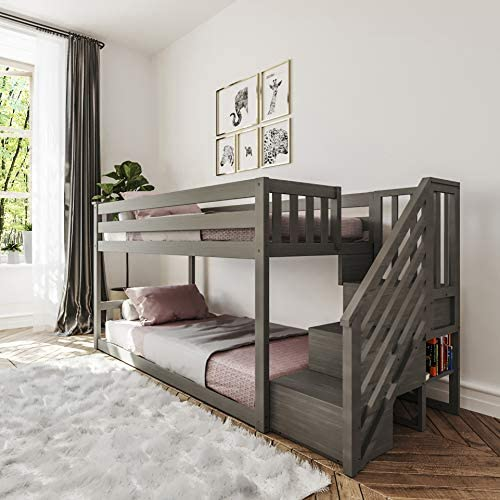 Max Lily Twin Low Bunk Bed