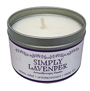 Our Own Candle Company Soy Wax Aromatherapy Scented Candle, Simply Lavender, 6.5 Ounce