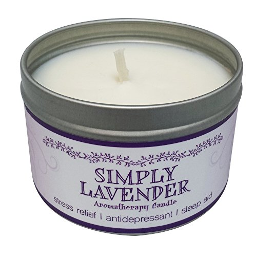 Our Own Candle Company Soy Wax Aromatherapy Candle, Simply Lavender, 6.5 Ounce