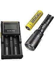 Combo: Nitecore SRT7GT Flashlight - 1000 Lumens -XP-L Hi V3 w/NL1835 3500mAh 18650 & D2 Charger