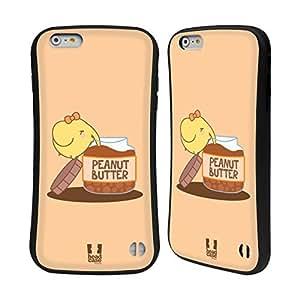 Head Case Designs Peanut Butter Kawaii Elephants Hybrid Gel Back Case for Apple iPhone 6 Plus 5.5
