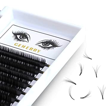 d993ff3e451 GEMERRY Volume Lash Extensions, C Curl 0.05mm Eyelash Extensions 8-14mm  Mixed Tray