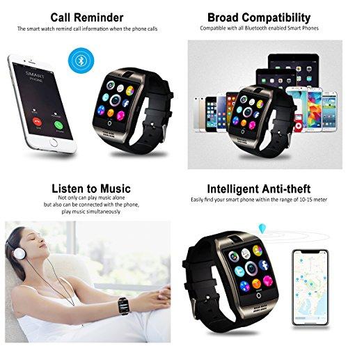 Smartwatch con Whatsapp,Bluetooth Smart Watch Pantalla táctil,Reloj Inteligente Hombre con Cámara, Impermeable Smartwatches Telefono Sport Fitness Tracker Compatible Android iOS...