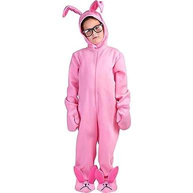 Amazon.com: Traje de conejo de A Christmas Story color rosa ...