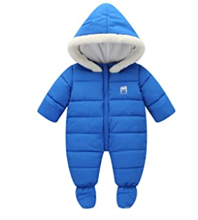 f9c6e5a5d Oceankids Baby Boys Girls Red Pram One-Piece Snowsuit Attached Hood ...