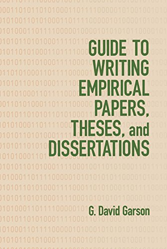 Guide To Writing Empirical Papers Theses And Dissertations  English Edition