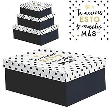 """Juego 3 cajas regalo diseño frases """"TE ..."""