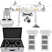 DJI Phantom 3 4K Quadcopter Aircraft with 3-Axis Gimbal and 4k Camera, - Bundle With Spare Battery and Aluminum Case