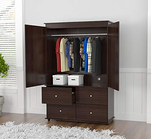 Inval America AM-13923 Wood Armoire Audio/Video Combo, Espresso-wengue
