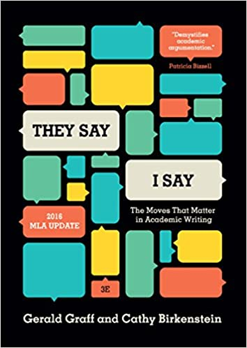 Amazon they say i say the moves that matter in academic they say i say the moves that matter in academic writing with 2016 mla update third edition 3rd edition pronofoot35fo Choice Image
