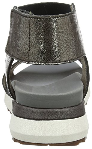 Hush Puppies Women's Josu Azalea Sling Back Sandals Multicolour (Gun Metal Metallic) g85br