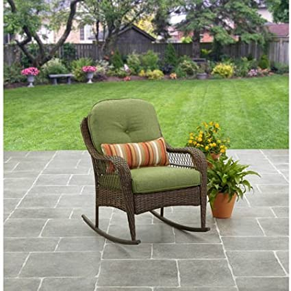 Amazon Com Better Homes Gardens Outdoor Rocking Chair In Green