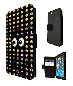 626 - Cool Smiley Faces emoji Funky Design iphone 6 4.7'' Fashion Trend TPU Leather Case Flip Credit Card TPU Leather Purse Pouch Defender Stand Cover