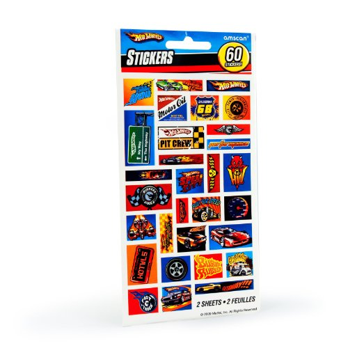 Amscan - Hot Wheels Speed City Stickers (2 Sheets) ()