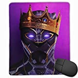 Black Panther Mouse Pad, Non-Slip Rubber Base Gaming Mouse Pad with Locking Edge- 9.8' X 11.8'