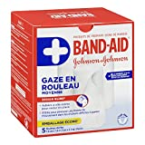 Band-Aid Brand Rolled Gauze Bandage Wrap for First Aid, 3 Inches by 2.1 Yards, 5 Rolls