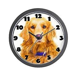 CafePress - Golden Retriever Wall Clock - Unique Decorative 10 Wall Clock