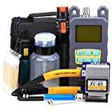 FTTH Fiber Tool Kit 20 in 1 with FC-6S Fiber Cleaver 10mW Aluminum Visual Fault Locator Optical Power Meter Cable Tester Cutter Stripper Tool Equipment
