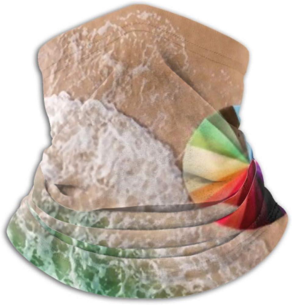 Neck Cap ,ski Mask Half Mask,fa Neck Gaiter Fleece Neck Warmer ,multifunctional Colorful Umbrella On Beach Foam Sea Scarf,a Full Face Mask Or Hat