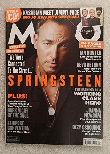 New 2010 Queen - Bruce Springsteen - The Making of a Working Class Hero - Mojo Magazine - Issue #201 - August 2010 - Joanna Newsom: The New Queen of Acid Folk, Ozzy Osbourne, Ian Hunter, Devo articles