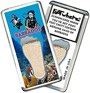 "product image for Barbados ""FootWhere"" Souvenir Fridge Magnet. Made in USA (BAR206 - Divers)"