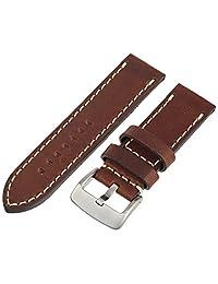 Tech Swiss LEA1555-26 26 mm Leather Calfskin Brown Watch Band