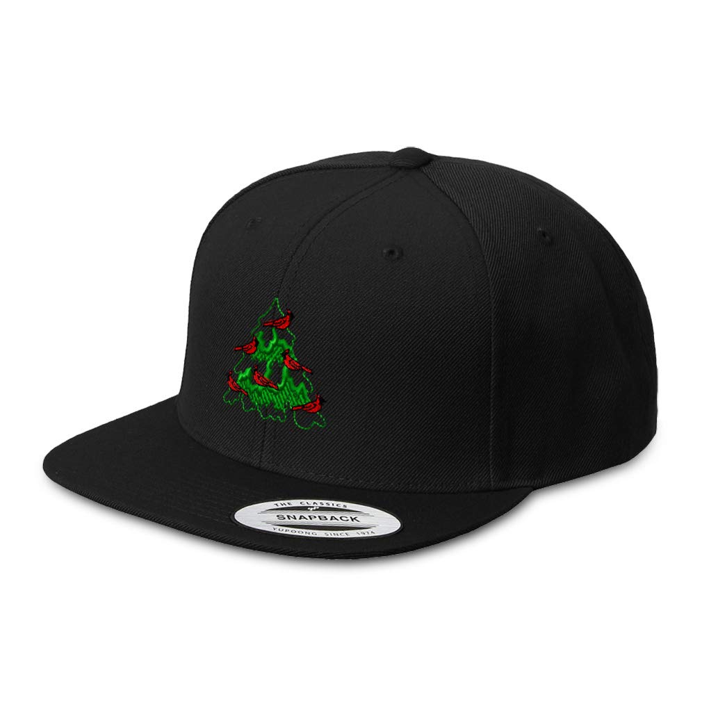 Custom Snapback Hats for Men /& Women Christmas Tree with Cardinals Embroidery