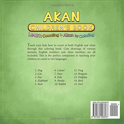 Akan Childrens Book: Learn Counting in Akan by Coloring