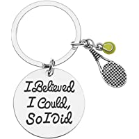 Sportybella Llavero de Tenis, I Believed I Could so I Did Tennis Jewelry- Perfecto para Jugadores de Tenis y Equipos de Tenis