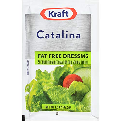 Kraft Catalina Fat Free Dressing (1.5 oz Packets, Pack of 60)