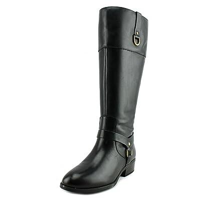 e12c666a2884f8 Ralph Lauren Frauen Mesa Pumps Rund Leder Fashion Stiefel Schwarz Groesse 5  US  35.5 EU