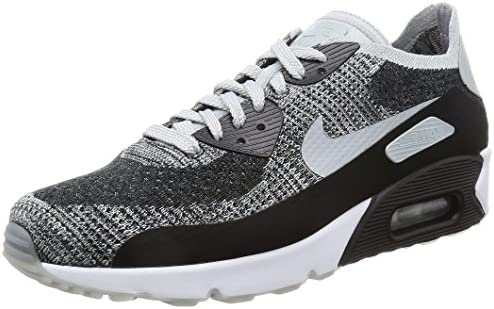 Nike Men s Air Max 90 Ultra 2.0 Flyknit, Black Wolf Grey-Pure Platinum, 10.5 M US
