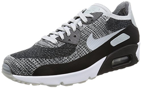san francisco 875a9 60b0c Galleon - NIKE Mens Air Max 90 Ultra 2.0 Flyknit Running Shoes Black Wolf  Grey Pure Platinum 875943-005 Size 9.5