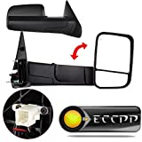ECCPP Towing Mirrors Tow Mirrors for 2002-08 Dodge Ram 1500 2500 Pickup Power Heated Towing Side Mirrors Pair Set Passenger & Driver Side View