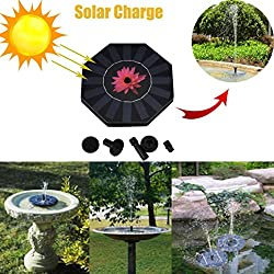 MOONHOUSE-New Outdoor Solar Powered Bird Bath Water Spray Fountain Pump DC Brushless,Pool, Garden, Aquarium