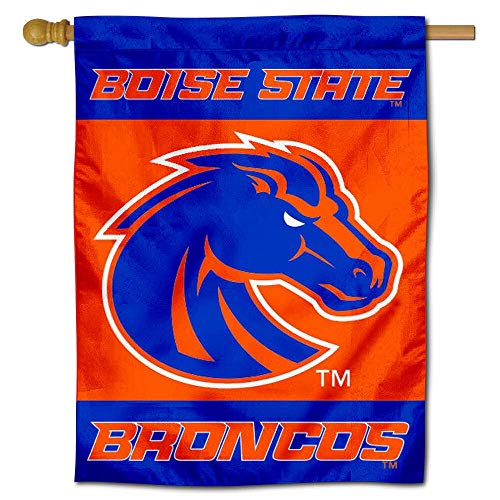 College Flags and Banners Co. Boise State New Logo Double Sided House Flag